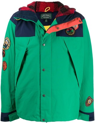 Polo Ralph Lauren Contrast Stripe Parka Jacket