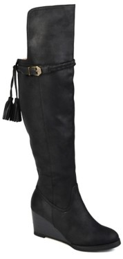 Journee Collection Jezebel Wide Calf Over The Knee Wedge Boot