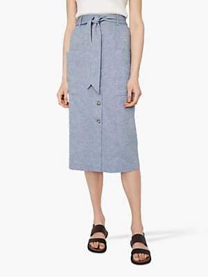 Warehouse Chambray Skirt, Light Blue