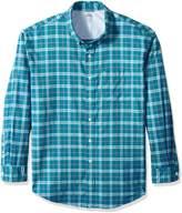 Izod Men's Tall Long Sleeve Oxford Plaid Shirt