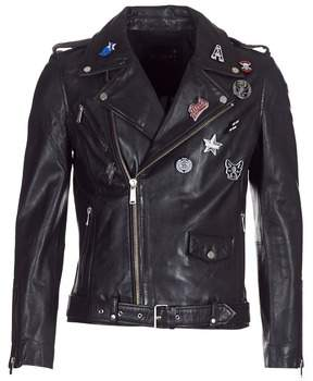 Redskins WILKINS men's Leather jacket in Black