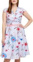 Studio 8 Millicent Floral Dress, Blue/Multi