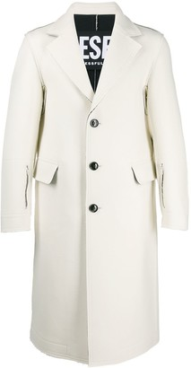 Diesel Reversible raw-edge coat