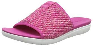 FitFlop Women's Artknit Olivia Pool Slide Open Toe Sandals, Pink (Psychedelic Pink 666)