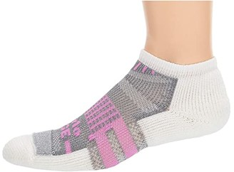 Thorlos Edge Court Low Cut Single Pair (Orchid/White) Crew Cut Socks Shoes