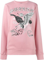 Marcelo Burlon County of Milan eagle print sweatshirt - women - Cotton/Polyester - XS