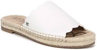 Sam Edelman Andy Scalloped Leather Espadrille Slide Sandal