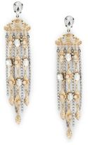 Natasha Nature-Inspired Fringe Crystal Drop Earrings