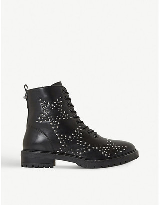 Dune Pansies star-studded leather ankle boots