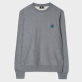 Paul Smith Men's Grey Marl Embroidered PS Logo Organic-Cotton Sweatshirt