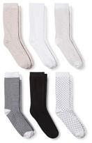 Merona Women's 6-Pack Casual Low Cut Dot Stripe Socks Multi Colored One Size