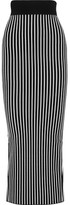 Christopher Kane Stripes & Flowers Stretch-jersey Maxi Skirt - Black