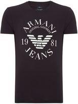 Armani Jeans Exclusive Slim Fit Logo Print T Shirt