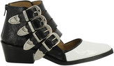 Toga Cut Out Buckled Ankle Boots