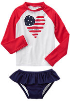 Gymboree Flag Rash Guard Set