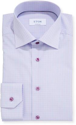 Eton Men's Contemporary Micro-Plaid Dress Shirt