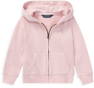 Ralph Lauren Little Girl's Drapey Terry Zip-Front Hoodie