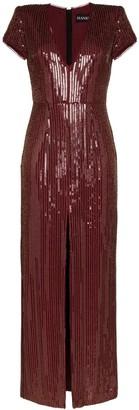 HANEY Alessia sequin maxi dress