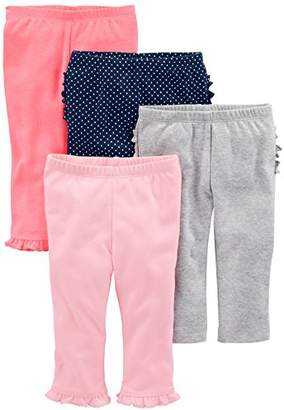 Carter's Simple Joys by Baby Girls 4-Pack Pant
