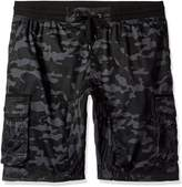 Southpole Men's Big and Tall Cargo Jogger Shorts in Camo and Solid Colors