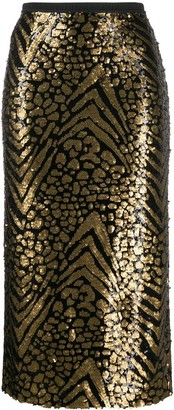 Antonio Marras Sequinned Pencil Skirt