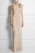 Lanvin One-shoulder draped satin-jersey gown