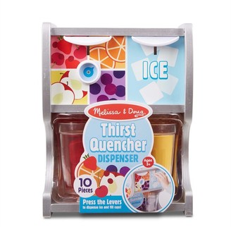 Melissa & Doug Wooden Thirst Quencher Drink Dispenser With Cups, Juice Inserts, Ice Cubes