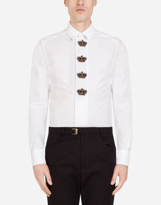 Dolce & Gabbana Gold Shirt With Patch