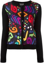Moschino multicolour shape motif cardigan
