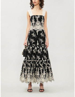 Alexis Karolina flared-skirt lace midi dress