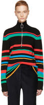 J.W.Anderson Multicolor Merino Zip Turtleneck