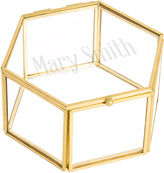 Cathy's Concepts CATHYS CONCEPTS Monogrammed Gold Glass Keepsake Box