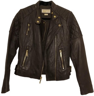 Michael Kors Brown Leather Leather jackets