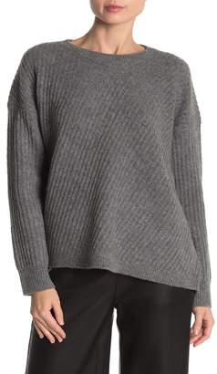Vince Solid Wool Blend Side Slit Sweater