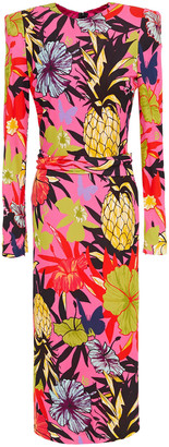 Dundas Floral-print Stretch-crepe Midi Dress