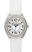 Alviero Martini Prima Classe Women's PCD 925S/FB White Globe Print Silver Dial Crystal Watch