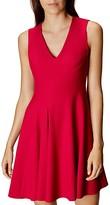 Karen Millen V-Neck Fit-And-Flare Dress