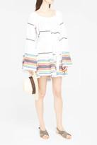 Lisa Marie Fernandez Sheer Short Peasant Dress