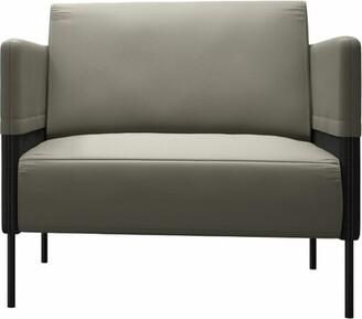 Modloft Black Allen Armchair Black Upholstery Color: Opala/Graphite