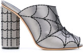 Marco De Vincenzo spider web mules - women - Silk/Leather/Rayon - 37