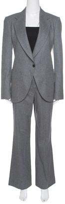 Viktor & Rolf Grey Wool Tailored Blazer and Trouser Set M