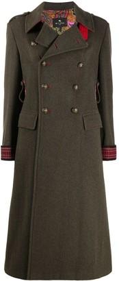 Etro Double-Breasted Flared Coat