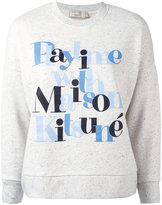 MAISON KITSUNÉ 'playtime' print sweatshirt - women - Cotton/Polyester/Viscose - XS
