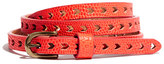 Madewell Arrowcut Skinny Belt in Lizardstamp