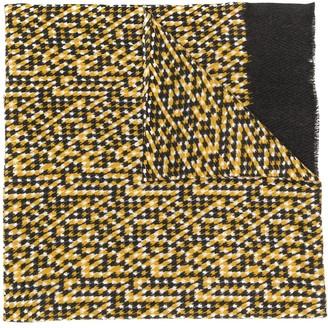 Altea chevron patterned frayed edge scarf