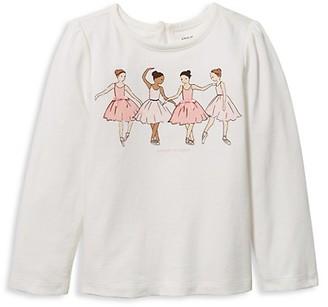 Janie and Jack Baby's, Little Girl's & Girl's Dance Class Long Sleeve T-Shirt