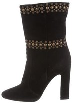 Tamara Mellon Studded Suede Ankle Boots