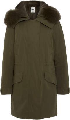 Yves Salomon Army Fur-Trimmed Cotton-Canvas Parka Size: 40