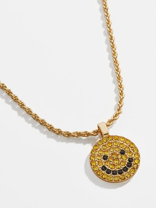BaubleBar Smiley Pave Pendant Necklace