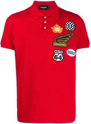 DSQUARED2 Logo Patches Polo Shirt
